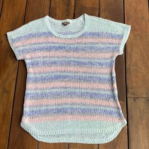 80's from Katie's! Pastel knit striped Top